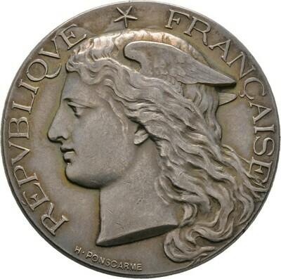 Mattierte, silberne Prämienmedaille 1896, 3. Republik, Frankreich