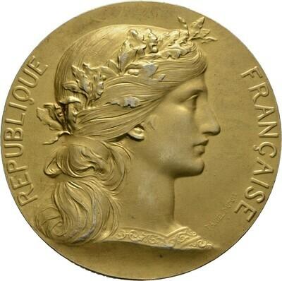 Vergoldete, silberne Prämienmedaille o.J. (um 1900), 3. Republik, Frankreich