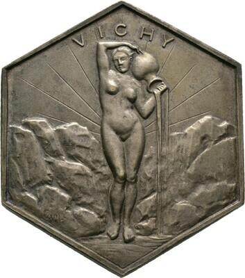 Oktogonale Silberplakette o.J. (1920-1930), 3. Republik, Frankreich