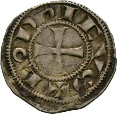 Denier um 1170-1245, Anonym im Namen König Ludwig, Frankreich-Angouleme