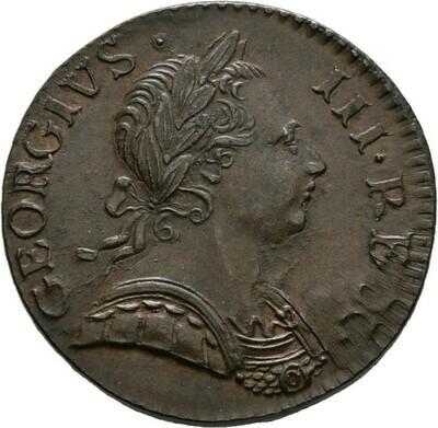Cu-Halfpenny 1771, Georg III., Großbritannien