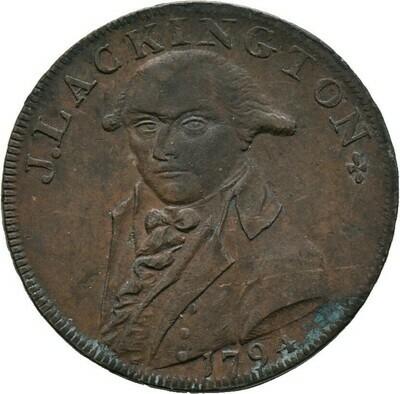 Cu-Halfpenny (Token) 1794, Georg III., Großbritannien