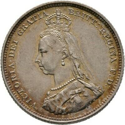 Shilling 1887, Victoria, Großbritannien