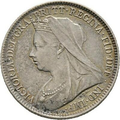 Sixpence 1896, Victoria, Großbritannien