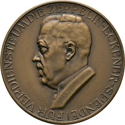 Bronzene Prämienmedaille o.J. (1924) von D. Fahrner, Luftfahrt