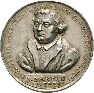 Silbermedaille o.J. (1717?), Reformation