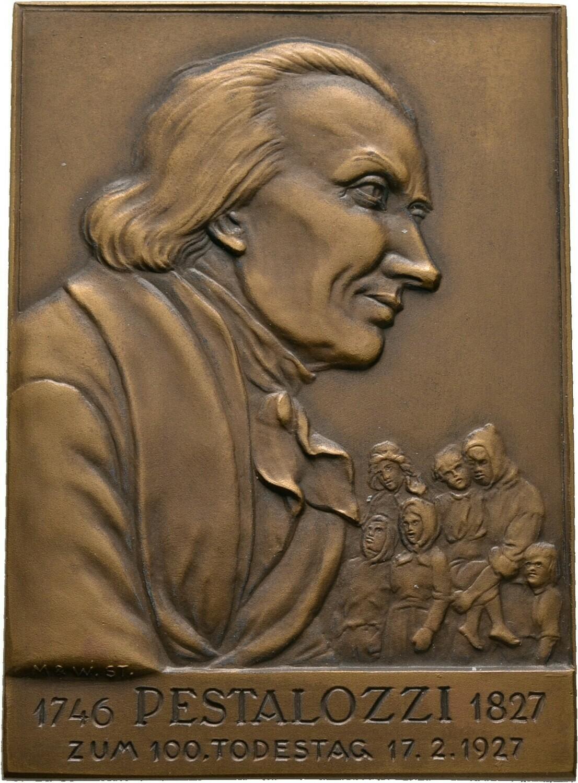 Einseitige Bronzeplakette 1927, Medaillen und Plaketten von Mayer und Wilhelm Stuttgart