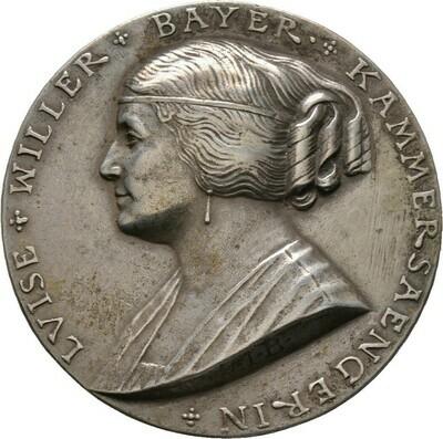 Silbergussmedaille 1925, Bernhart, Josef 1883-1967, Medailleure