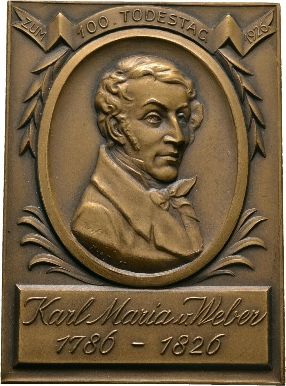 Einseitige Bronzeplakette 1926, Medaillen und Plaketten von Mayer und Wilhelm Stuttgart