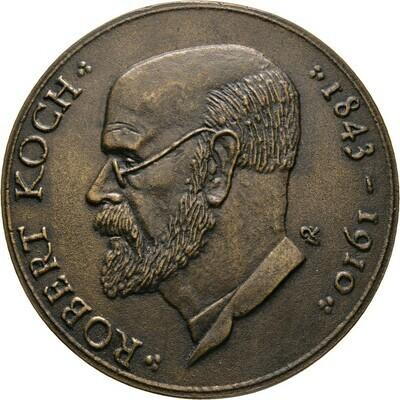 Bronzegussmedaille o.J. auf Robert Koch (1843-1910), Günzel, Wolfgang, Medailleure
