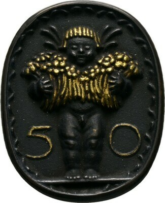 Einseitige, hochovale Bronzegussmedaille o.J., München, Olofs, Max