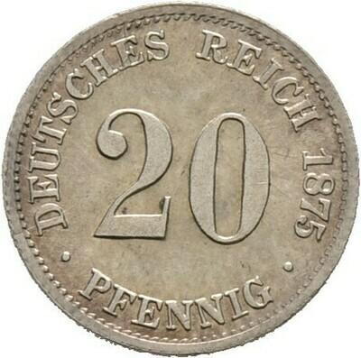 20 Pfennig 1875 C, Kleinmünzen, Deutsche Münzen ab 1871