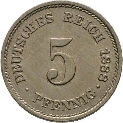 5 Pfennig 1888 A, Kleinmünzen, Deutsche Münzen ab 1871