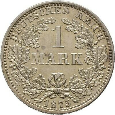 1 Mark 1875 A, Kleinmünzen, Deutsche Münzen ab 1871
