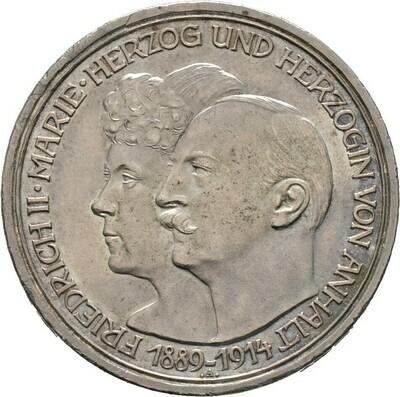 3 Mark 1914 A, Friedrich II., Anhalt
