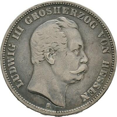 5 Mark 1875, Ludwig III., Hessen