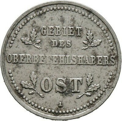 1 Kopeke 1916, Gebiet des Oberbefehlshabers Ost, Besetzte Gebiete (Erster Weltkrieg)