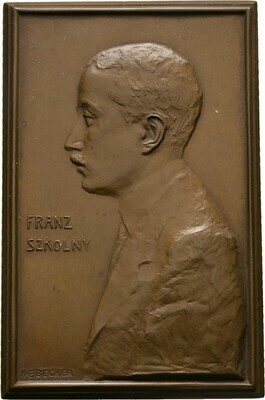 Einseitige Bronzeplakette o.J. (um 1920), München