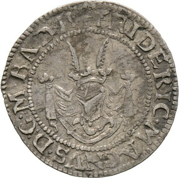 Halbbatzen (= 2 Kreuzer) o.J., Friedrich VII. Magnus, Baden-Durlach