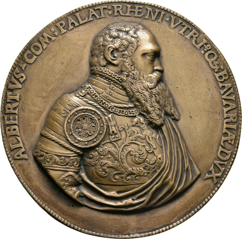 Bronzemedaillon 1558, Albrecht V. der Großmütige, Bayern