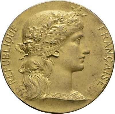 Vergoldete, silberne Prämienmedaille o.J., 3. Republik, Frankreich