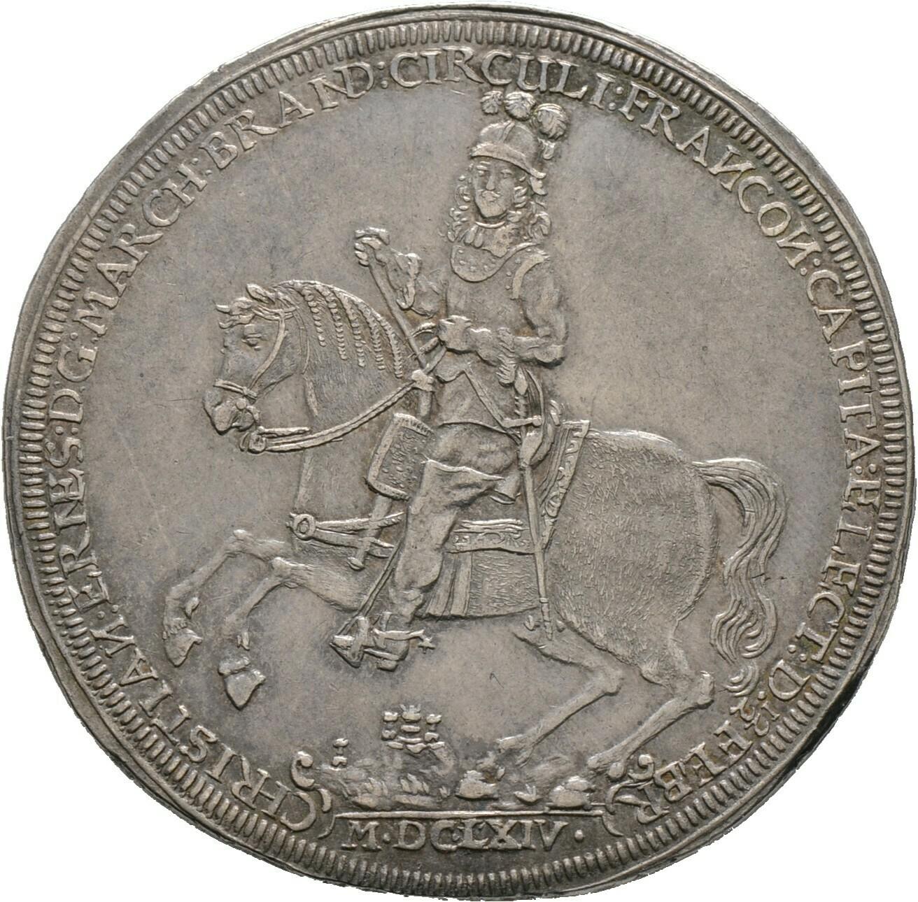 Taler 1664, Christian Ernst 1655-1712, Brandenburg-Bayreuth