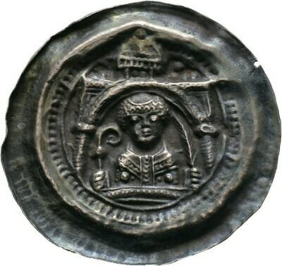 Brakteat um 1170/80, Anonym, Seligenstadt, Abtei