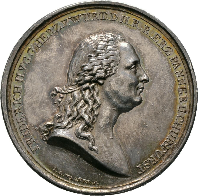 Silbermedaille 1803, Friedrich II./I. 1797-1806-1816, Württemberg