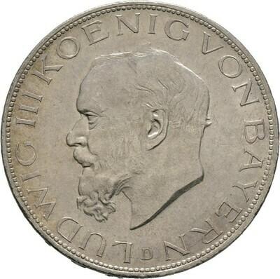 5 Mark 1914, Ludwig III. 1913-1918, Bayern
