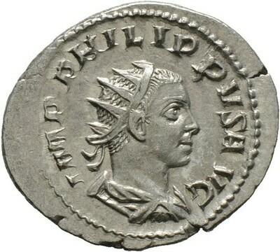 Antoninian -Rom-. Philippus II. 247-249, Kaiserzeit