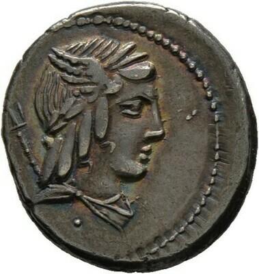 Denar -Rom-, L. Julius Bursio 85 v. Chr., Römische Republik