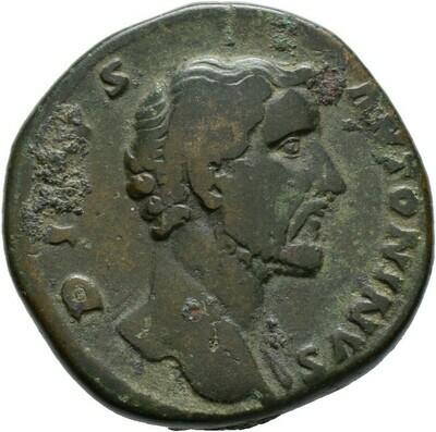 Sesterz (für Divus Antoninus) 161 -Rom-., Marcus Aurelius 161-180, Kaiserzeit