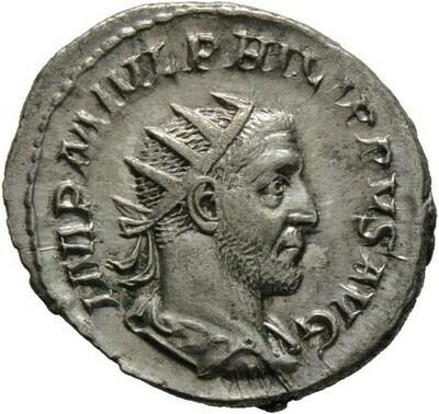 Antoninian 244/247 -Rom-., Philippus I. Arabs 244-249, Kaiserzeit