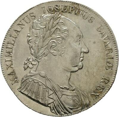 Konventionstaler 1818, Maximilan I. Joseph 1806-1825, Bayern