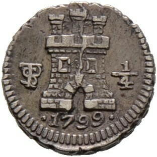 1/4 Real 1799 -Potosi-, unter spanischer Herrschaft, Bolivien