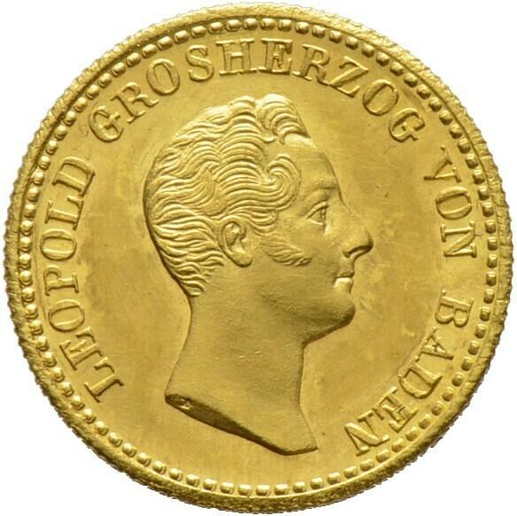 Rheingolddukat 1832, Leopold 1830-1852, Baden-Durlach