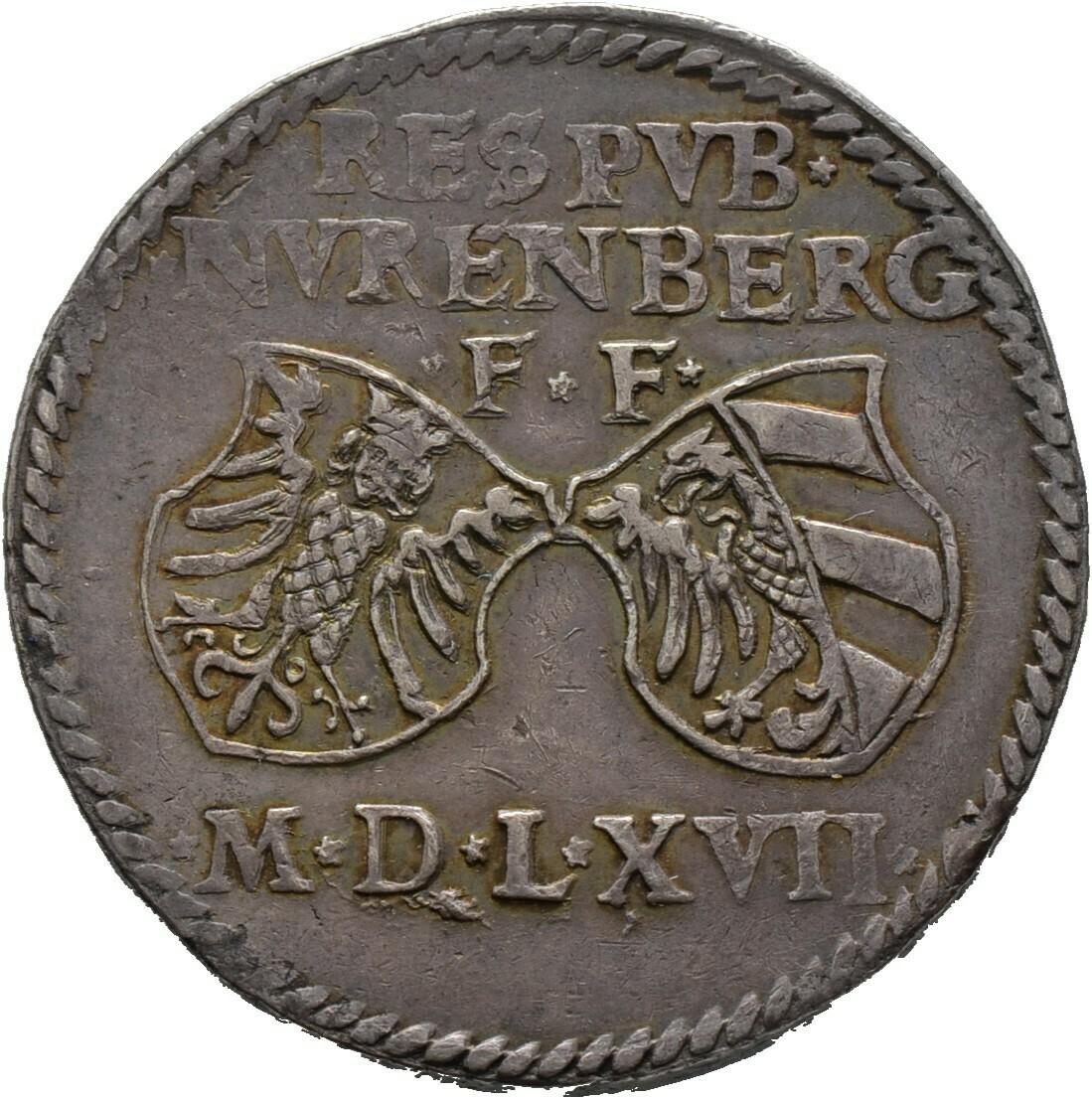 Reichsguldiner zu 60 Kreuzer 1567, Nürnberg, Stadt