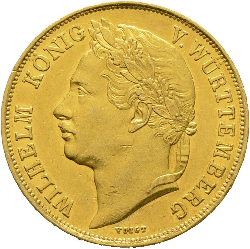 4 Dukaten 1841, Wilhelm I. 1816-1864, Württemberg