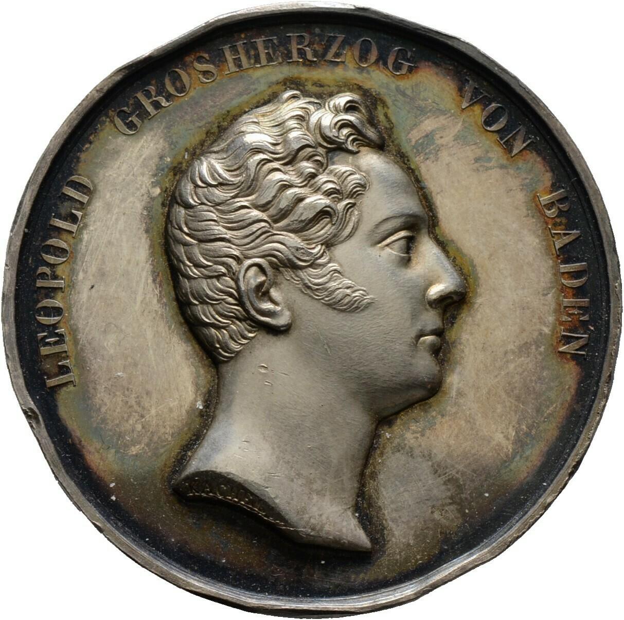 Silbermedaille 1830, Leopold 1830-1852, Baden-Durlach