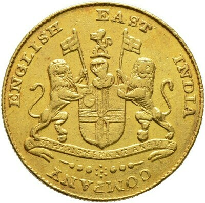 Gold-Mohur o.J. (1819), Madras Presidency, Indien-Britisch Indien und East India Company