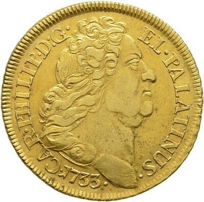 Karolin 1733, Karl Philipp von Neuburg 1716-1742, Pfalz, Kurlinie