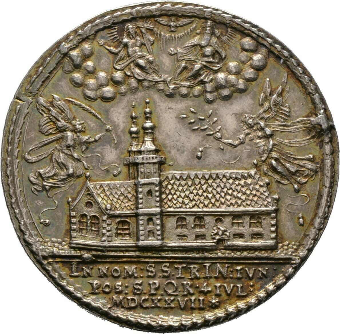 Silbermedaille 1627, Regensburg, Stadt