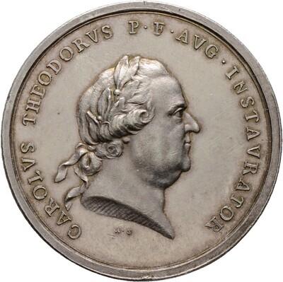 Silbermedaille 1786, Karl Theodor 1742-1799, Pflaz, Kurlinie