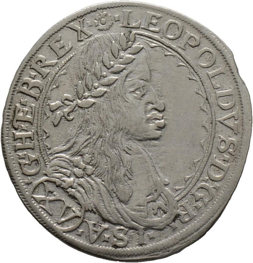 15 Kreuzer 1663 -Wien-, Leopold I. 1657-1705, Haus Habsburg