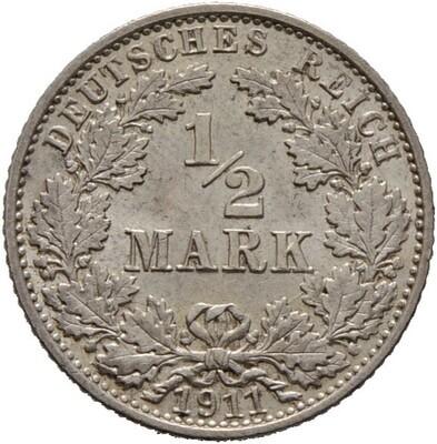 1/2 Mark 1911, Kleinmünzen