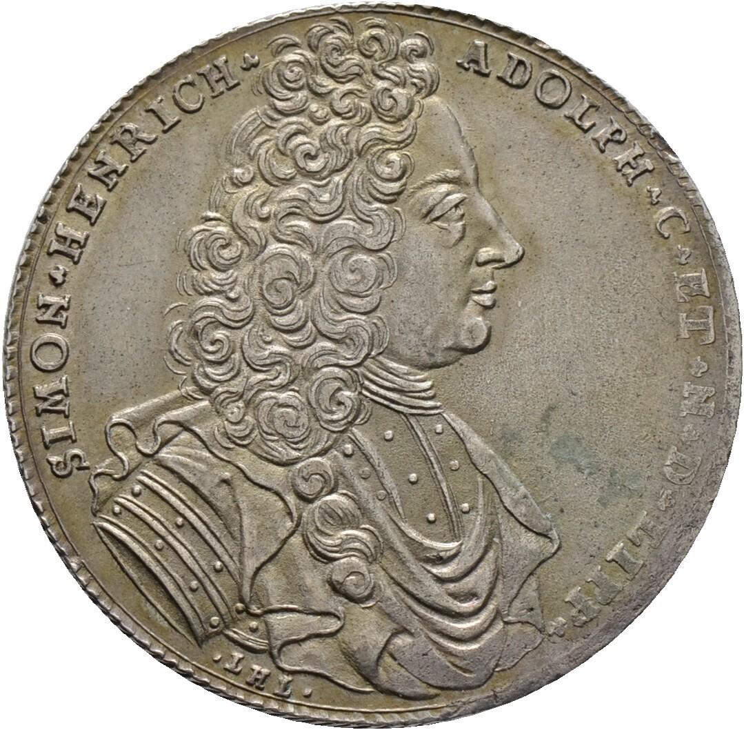 Gulden zu 2/3 Taler 1719, Simon Heinrich Adolf 1718-1734, Lippe-Detmold