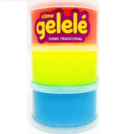 Gelele Slime Torre Tradicional 3506 196G Doce Brinquedo