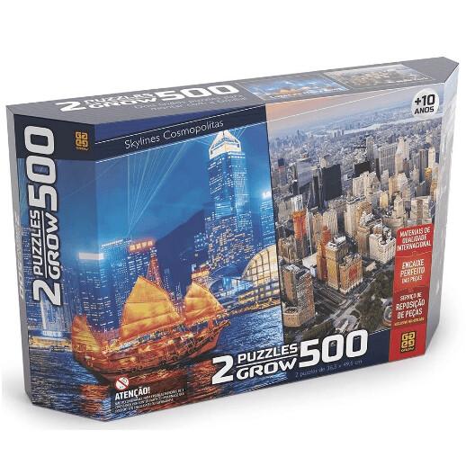 Puzzle 500 Pecas Duplo Skylines Cosmopolitas 03920 - Grow