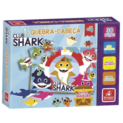 Quebra Cabeca Club Shark 30 Pecas 2550 Brincadeira De Crianca