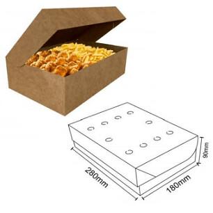 Box Frituras Kraft Extra Grande C/50